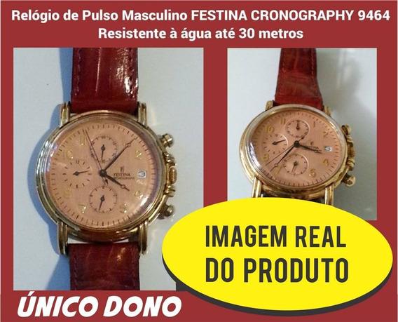 Relógio De Pulso Masculino Festina Cronograph 9464