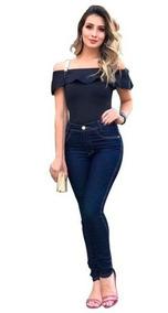 Calça Jeans Feminina Cintura Alta C/ Lycra Hot Pants + Cores