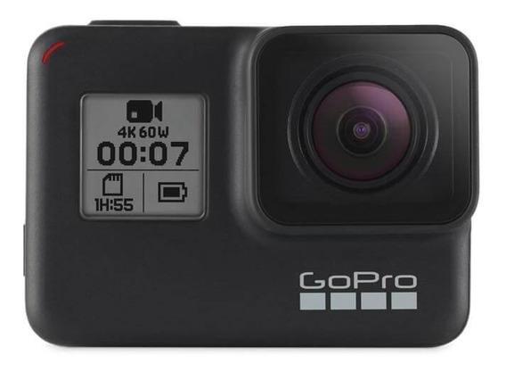 Gopro Hero 7 Black, Gps, Hyper Smooth, À Prova Dágua