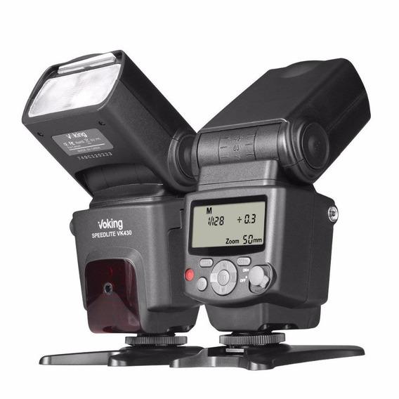 Flash Para Nikon Ttl Manual Zoom Gn 42 Voking Vk 430