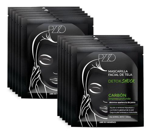 Pack 12 Mascarilla Tela Carbon Detox Petrizzio