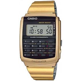 Relógio Masculino Dourado Casio Calculadora Ca-506g-9adf