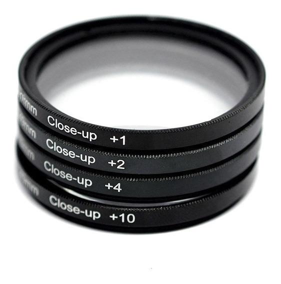 Kit Filtros 52mm Macro Nd Uv Cpl P/ Nikon D5100 D3100 D3000
