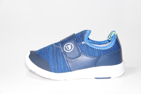 Zapatilla Infantil Prowess Azul Abrojo 27 Al 34