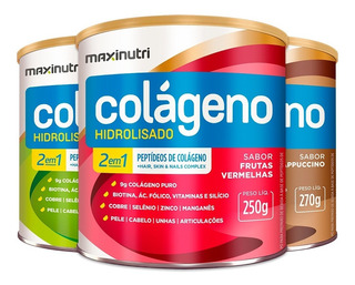 Colágeno Hidrolisado 2 Em 1 - 3 Un De 250g - Maxinutri