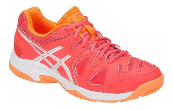 Tenis Asics Gel-game 5 Gs All Court Kids - Coral Infantil