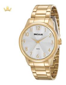 Relógio Seculus Feminino 20567lpsvds1 Com Nf