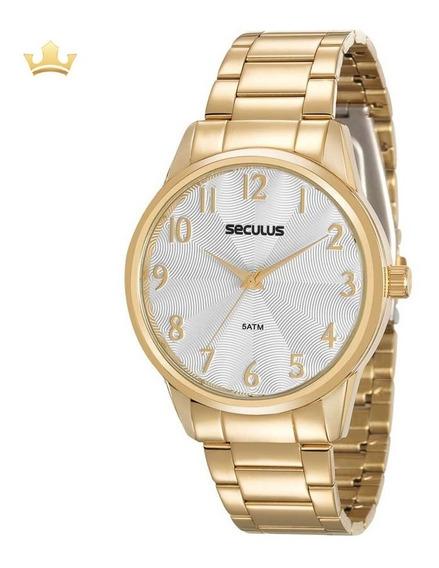 Relógio Seculus Feminino 20567lpsvds1 C/ Garantia E Nf Full
