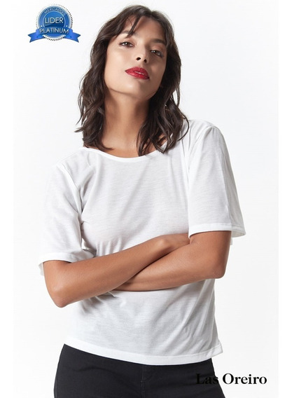 Remera Las Oreiro Top Panna Cotta Blanco