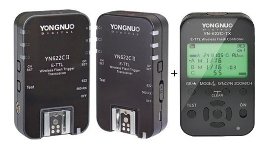 Radio Flash Yongnuo Kit Canon (01 Yn-622c Tx + Par Yn622c Ii