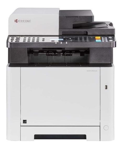 Impressora a cor multifuncional Kyocera Ecosys M5521CDN 120V branca e cinza