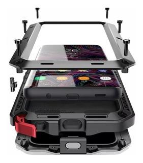 Capa Case Armadura Galaxy S9 S10+ Plus Anti Shock Impacto Armadura Blindada Metal Anti Quedas
