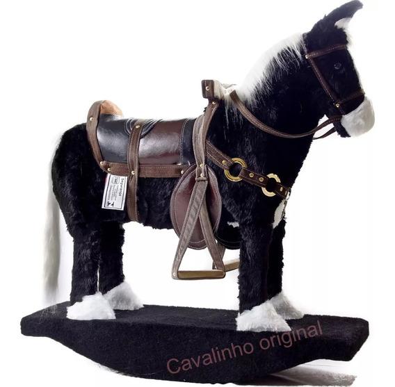 Cavalinho Brinquedo Pelucia Infantil Gangorra Barato!