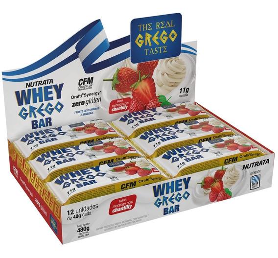 Whey Grego Bar 12 Unidades - Nutrata