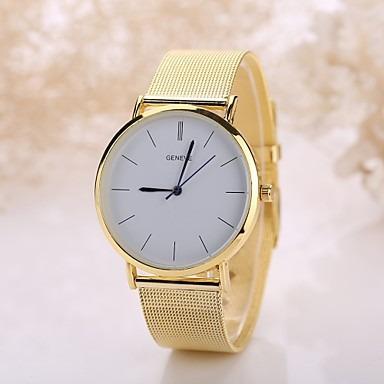 Relógio Feminino Pulso Quartz Casual Aço Inoxidável Dourado