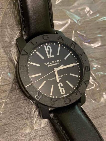Relógio Bvlgari Carbongold Via Condotti. Caixa E Certificado