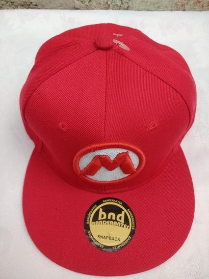 Gorra Plana Snapback Ajustable Mario Bros