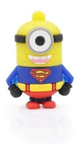 1x Pendrive Super Homem Minions Super Heróis Imediato Ref111