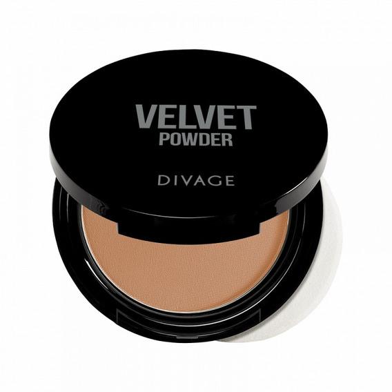 Polvo Para Rostro Maquillaje Para Damas Compacto, Transparente Y Ligero Iluminador Divage Velvet Distintos Tonos Mujer