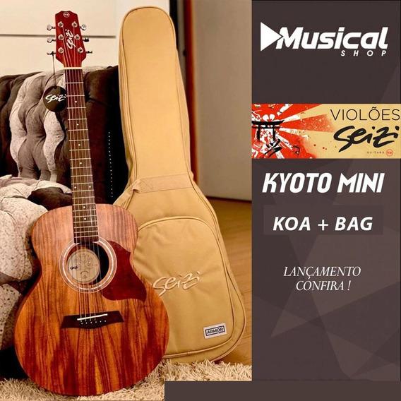 Violão Seizi Mini Kyoto Koa Com Bag Luxo