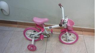 Bicicleta Infantil Aro 12 Ferinha Rosa
