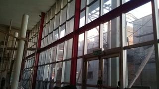 Frente Vidrio Laminado 3+3 Con Perfilería Aluminio Anodizado