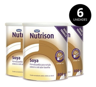 Nutrison Soya Baunilha 800g Pack 6 Latas