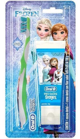 Kit Oral B Stages Frozen Escova Dental + Creme Dental 100g