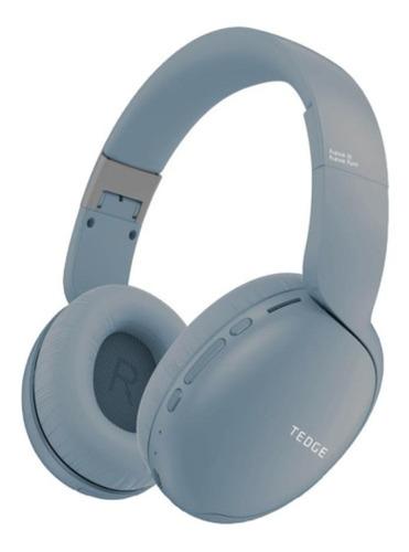 Imagem 1 de 3 de Fone de ouvido over-ear sem fio Tedge H600BT azul-claro