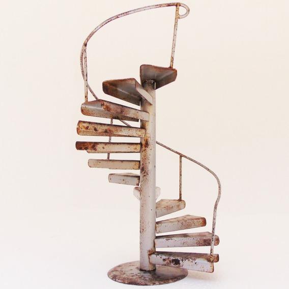 Antigo Brinquedo Mine Escada Caracol Artesanal Em Ferro