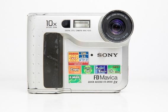 Câmera Digital Sony Mavica Fd-75 Funcionando