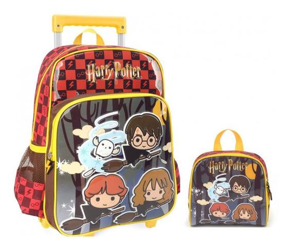 Kit Mochila Infantil Menino Menina Harry Potter E Lancheira
