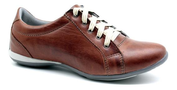Sapato Sapatênis Tênis Feminino Casual Couro Bmbrasil 227/01