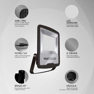 Reflector Led Macroled 100w Apto Exterior