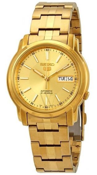 Relógio Seiko Series 5 Automatic Gold Dial