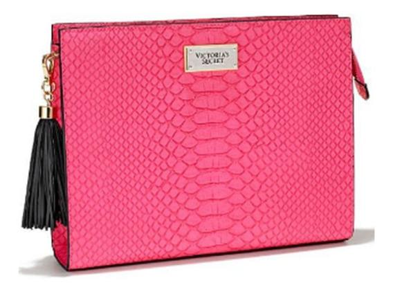 Victorias Secret Bolsa Rosa Elegante Tipo Clutch Amyglo