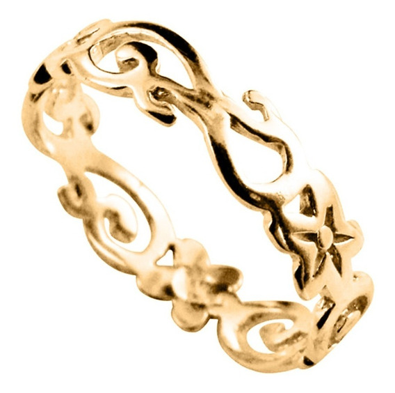 Anel Ouro 10k Arabesco - Exclusivo