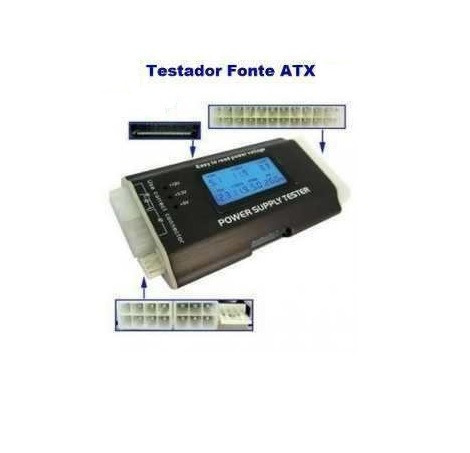 Kit 2 Testadores Digital Fonte Com Lcd Atx Btx Pc