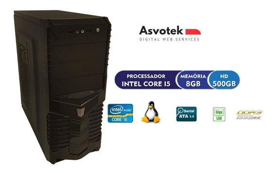 Cpu Pc Intel Core I5 8gb Hd 500 Asvotek