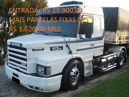 Scania 113h 360 Top Line Com Carreta Randon