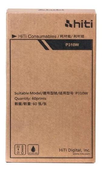 Papel E Ribbon P/ Impressora P310w Hiti /hiti P310 /60 Fotos