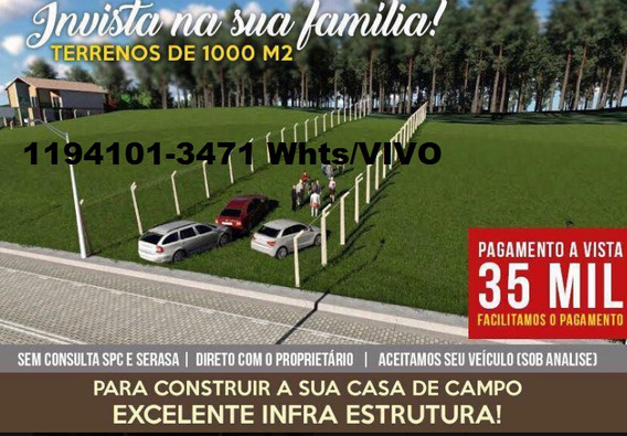 Terreno De 1000m² Ideal Para Chacara (be)