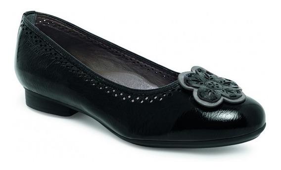 Flats Balerinas Zapatos Dama Onena 9537 Negro Flor
