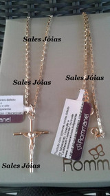 Rommanel Cordão 60cm +ping Crucifixo Masculino 530718 540027