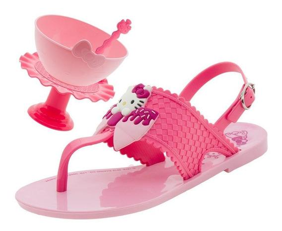 Sandalia Infantil Hello Kitty Cup Cake Sweet + Brinde