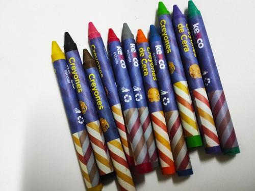 Imagen 1 de 2 de Colores Creyones  De Cera  Kenco Precio Por 12 Cajas