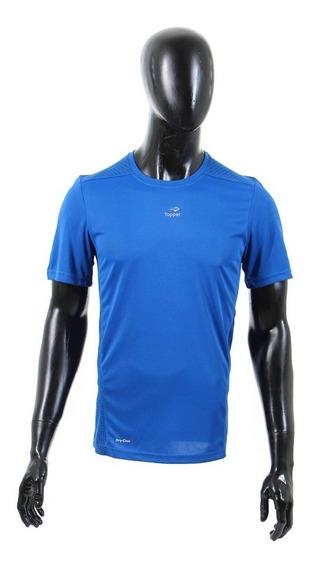 Remera Topper Hombres T-shirt Mc Trng C-rec Azul Classic-162