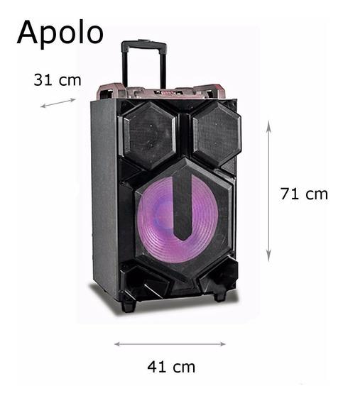 Caixa Som Amplificada Super Grave 12 4000w Mp3 Bluetooth
