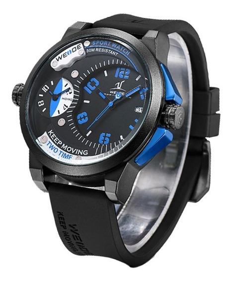 Kit Relógio Masculino Weide Analógico Uv-1501 E Pulseira De