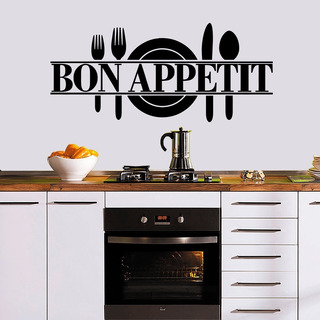 Vinil Bon Apetit Rotulo Cocina Decorativo Calcomania Calca